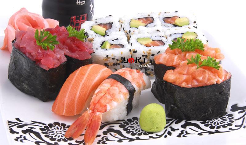 <b>MENU S5</b>  Soupe,salade |2 Thon hache,2 Saumon hache,6 california maki,1 sushi saumon,1 sushi crevette |   <b>16,80 €</b>