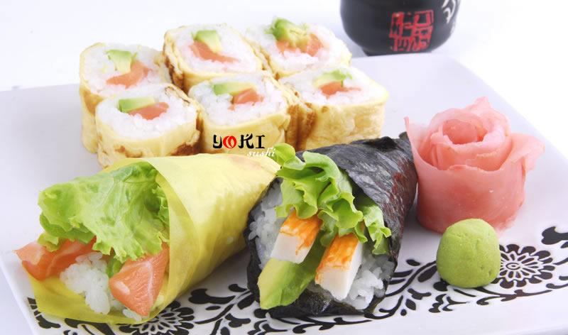 <b>MENU S1</b>  Soupe,salade |6 Maki, 2 Temaki couleur(1 Saumon,1 crevette) |   <b>12,80 €</b>