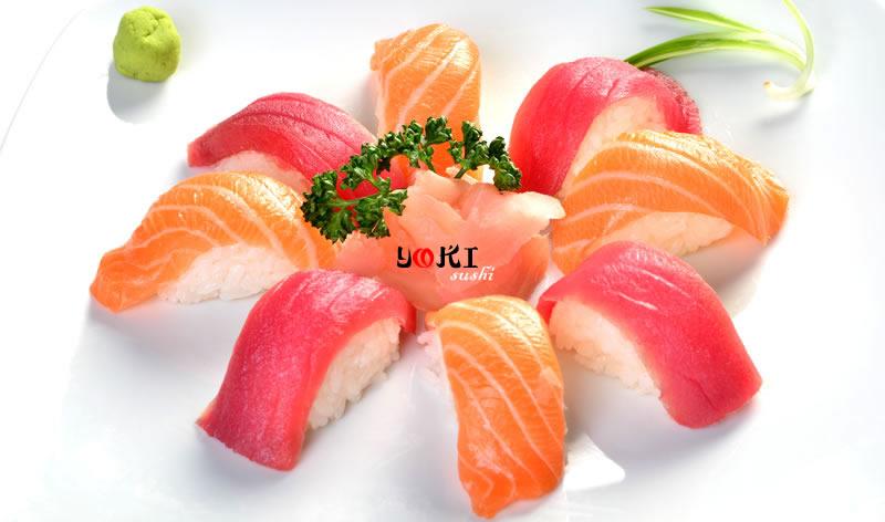 <b>MENU S8</b>  Soupe,salade |8 Sushi(4 Saumon,4 Thon) |   <b>13.80 €</b>